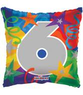 "18"" Party Number 6 Balloon"