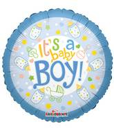 "4"" Airfill Only Baby Bottle Boy Balloon"