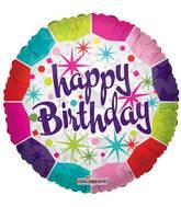 "9"" Airfill Only Happy Birthday Fresh Balloon"