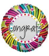 """18"""" Congrats Spiral Balloon"""