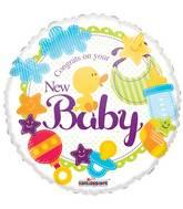 """18"""" New Baby Gellibean Balloon"""