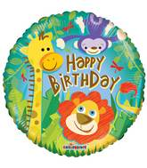"""18"""" Birthday Jungle Balloon"""