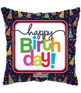 """18"""" Birthday Party Hats Balloon"""