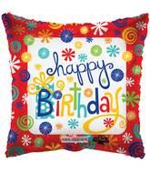 "9"" Airfill Only Birthday Swirls Balloon"