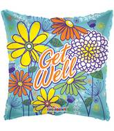 "4"" Airfill Only Get Well Spring Flowers Balloon"