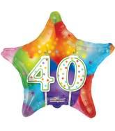 "18"" 40th Candles Balloon"