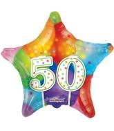 "18"" 50th Candles Balloon"