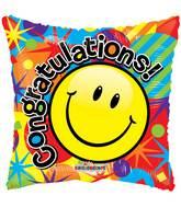 """18"""" Smiley Congratulations Gellibean Balloon"""