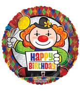 """9"""" Airfill Only Prismatic Birthday Clown Balloon"""