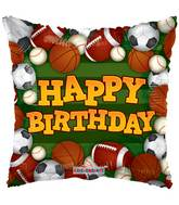 "18"" Birthday Sports Green Balloon"