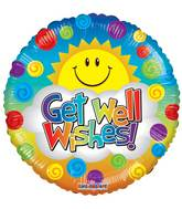 "9"" Airfill Only Get Well Sunshine Balloon"