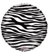 "18"" Decorator Zebra Print Balloon"