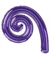 "14"" Airfill Only Kurly Spiral Purple Balloon"