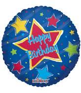 """18"""" Happy Birthday Big Star Balloon"""