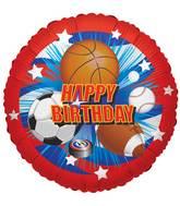 """18"""" Birthday Sports Balloon"""