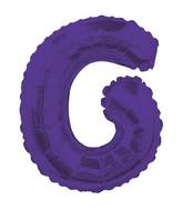 "14"" Airfill with Valve Only Letter G Purple Balloon"