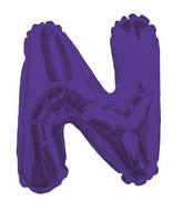 """14"""" Airfill with Valve Only Letter N Purple Balloon"""