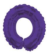 """14"""" Airfill with Valve Only Letter O Purple Balloon"""