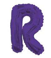 """14"""" Airfill with Valve Only Letter R Purple Balloon"""
