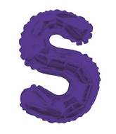 """14"""" Airfill with Valve Only Letter S Purple Balloon"""