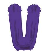 "14"" Airfill with Valve Only Letter V Purple Balloon"