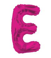"14"" Airfill with Valve Only Letter E Hot Pink Balloon"