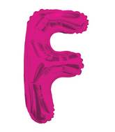 "14"" Airfill with Valve Only Letter F Hot Pink Balloon"