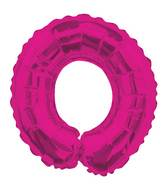 "14"" Airfill with Valve Only Letter O Hot Pink Balloon"