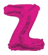 "14"" Airfill with Valve Only Letter Z Hot Pink Balloon"