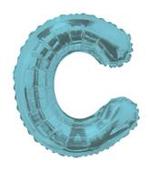 "14"" Airfill with Valve Only Letter C Light Blue Balloon"