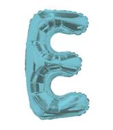 "14"" Airfill with Valve Only Letter E Light Blue Balloon"