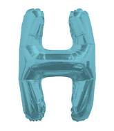 "14"" Airfill with Valve Only Letter H Light Blue Balloon"