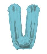 "14"" Airfill with Valve Only Letter V Light Blue Balloon"