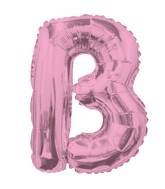 "14"" Airfill with Valve Only Letter B Pink Balloon"