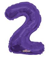 """14"""" Airfill with Valve Only Number 2 Purple Balloon"""