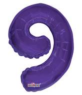 """14"""" Airfill with Valve Only Number 9 Purple Balloon"""