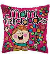 """18"""" Mami Felicidades Holografico Balloon"""