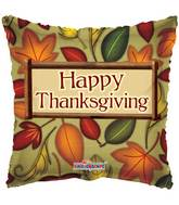 "18"" Happy Thanksgiving Fall Leaves Square Balloon"
