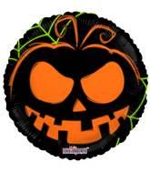 "18"" Pumpkin Face Neon Gellibean Balloon"