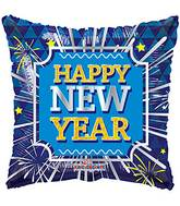 """18"""" New Year Square Balloon"""
