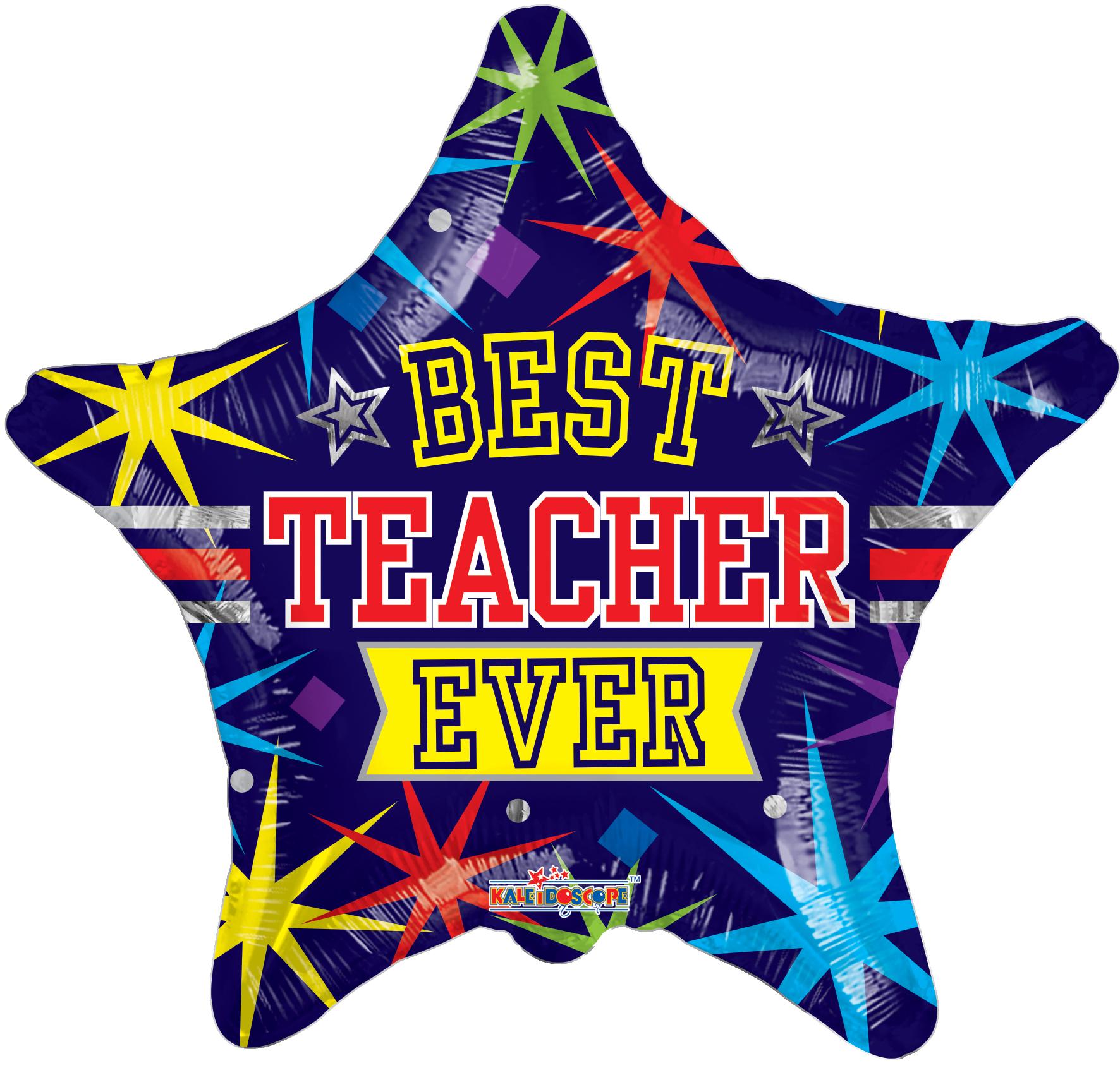"""18"""" Balloon Best Teacher Ever"""