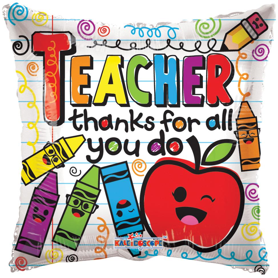 "18"" Balloon Teacher Crayons"