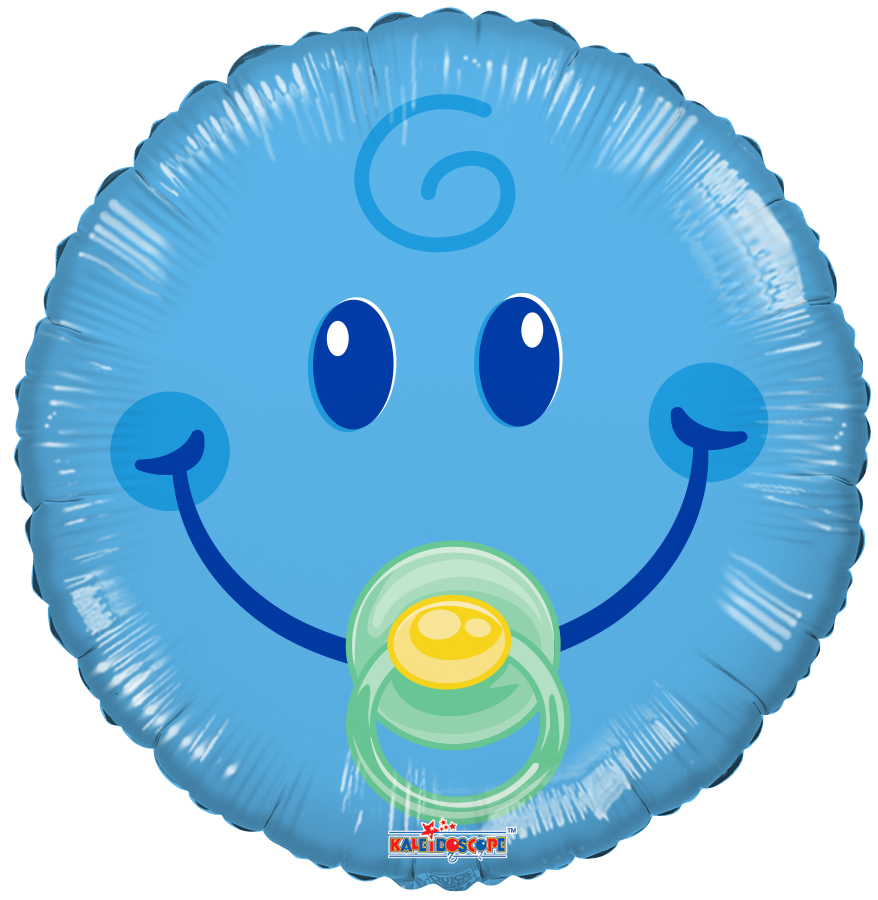 """18"""" Smiley Boy Gellibean Balloon"""