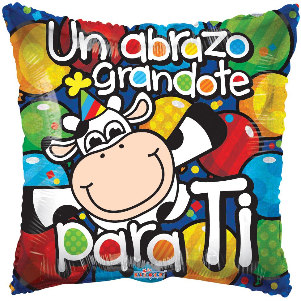 """18"""" Vaca Felicidades Holografico Balloon"""