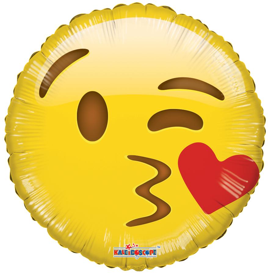 "18"" Smiley Kiss Balloon Emoji"