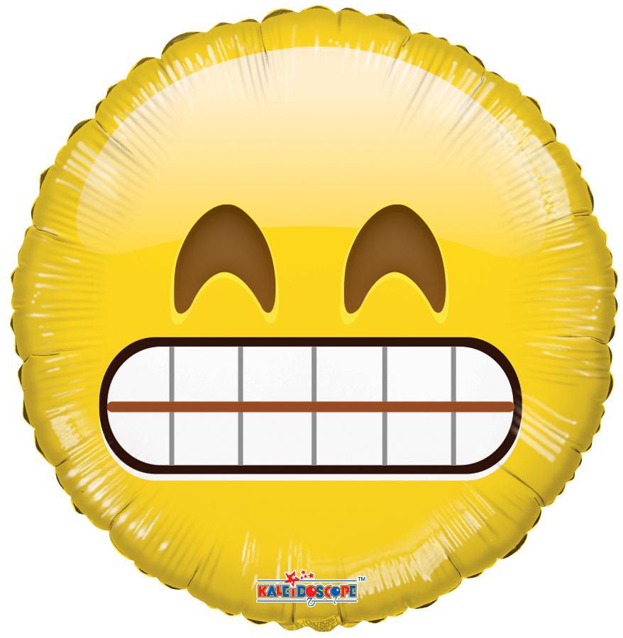 """18"""" Smiley Teeth Balloon Emoji"""