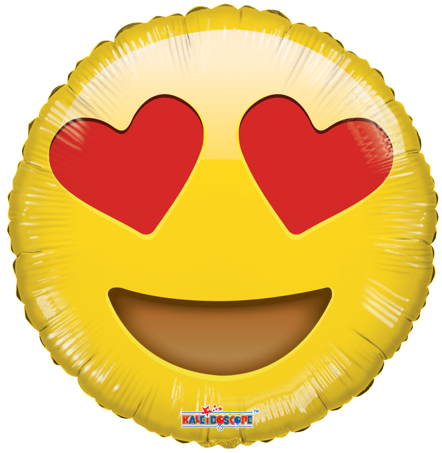 "18"" Smiley In Love Balloon Emoji"