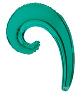 "14"" Airfill Only Kurly Wave Turquoise Green Balloon"