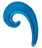 "14"" Airfill Only Kurly Wave  Blue Balloon GELLIBEAN"