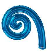 "14"" Airfill Only Kurly Spiral Royal Blue Balloon"